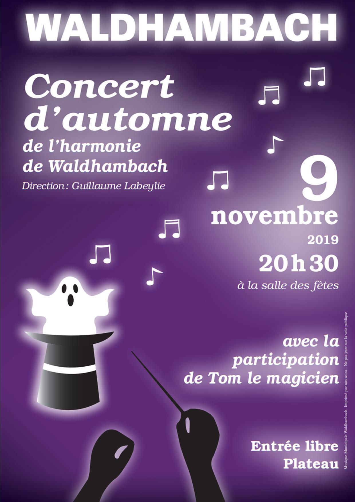 Affiche concert 9 novembre